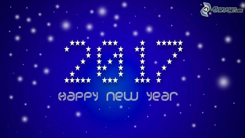 2017, šťastný nový rok, happy new year, modré pozadie