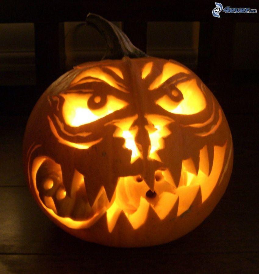 halloweenska tekvica, jack-o'-lantern