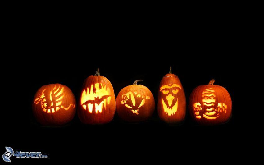 halloweenske tekvice, jack-o'-lantern