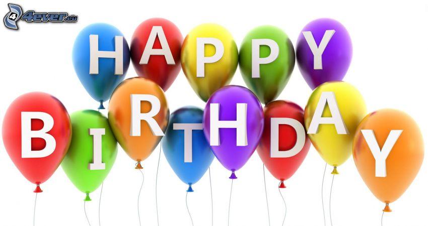 Happy Birthday, balóny, narodeniny