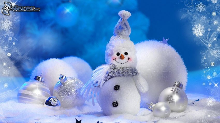 snehuliak, vianočné gule