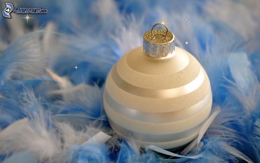 vianočná guľa, pierka