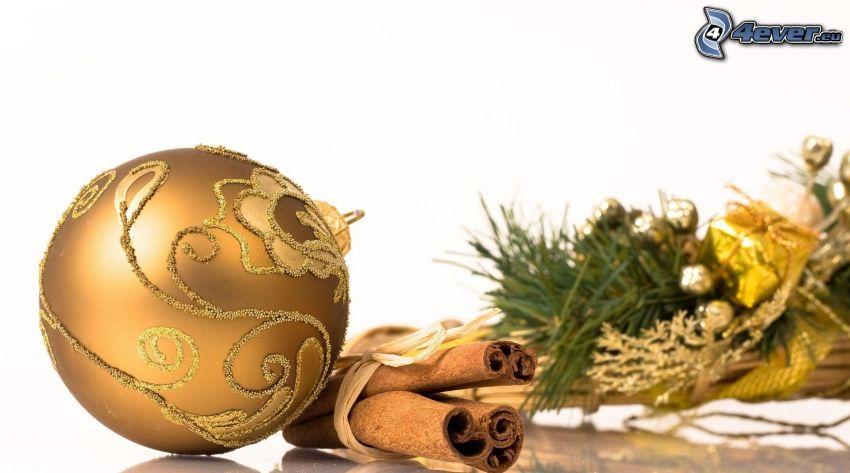 vianočná guľa, škorica