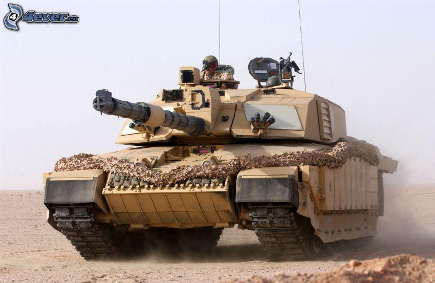 M1 Abrams, tank, prach