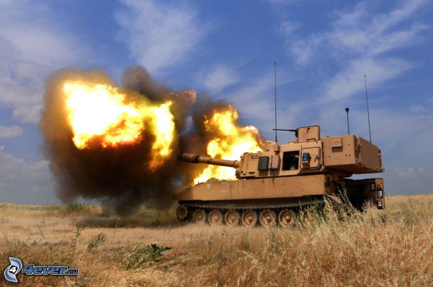 tank, výstrel