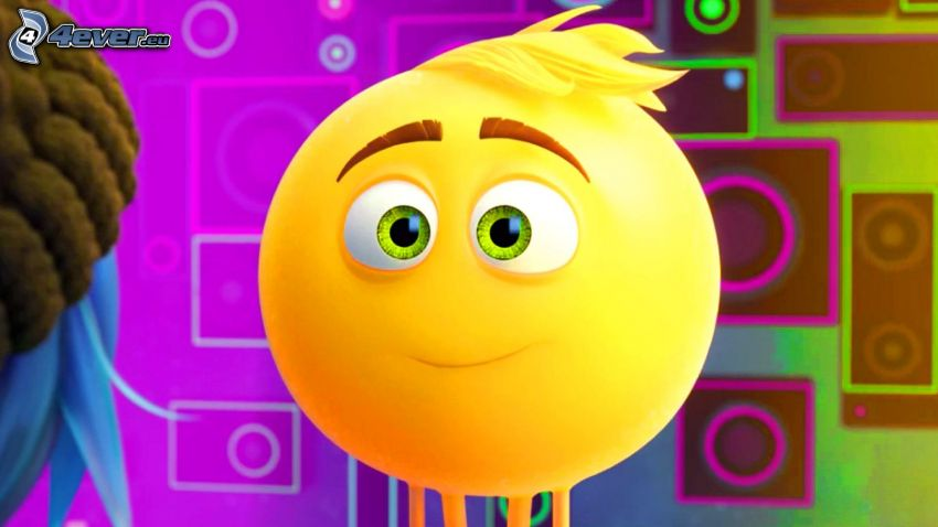 emoji movie, smajlík