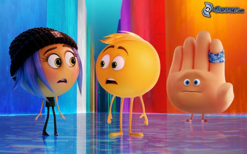 emoji movie, smajlíky