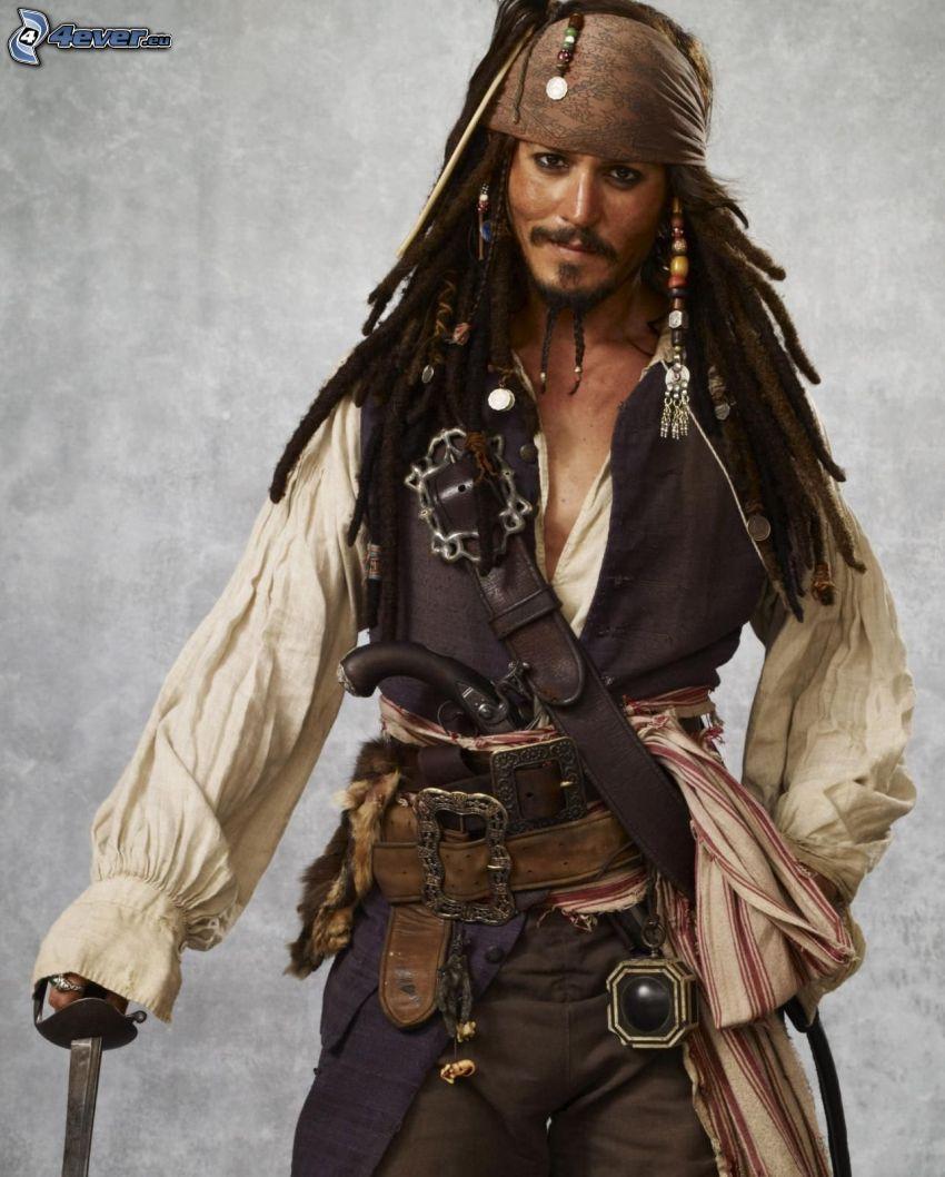 Jack Sparrow, pirát, Johnny Depp
