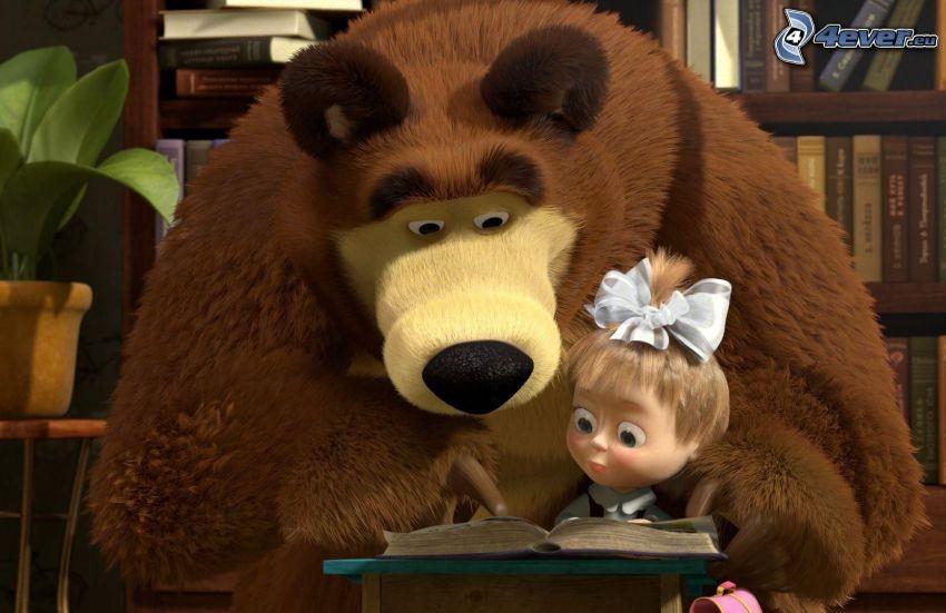 Máša a medveď, rozprávka