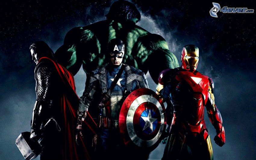 The Avengers, Thor, Hulk, Captain America, Iron Man