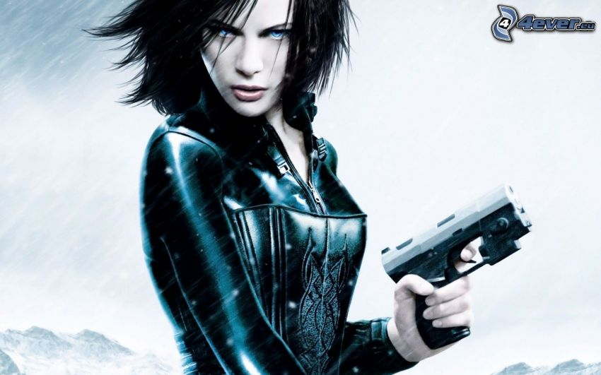 Underworld, žena so zbraňou