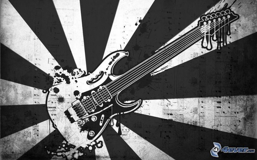 elektrická gitara, pásy