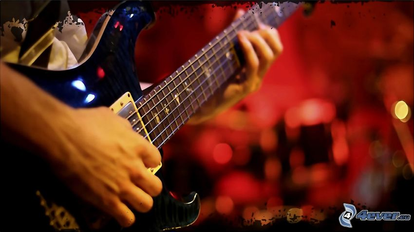 hra na gitare, elektrická gitara