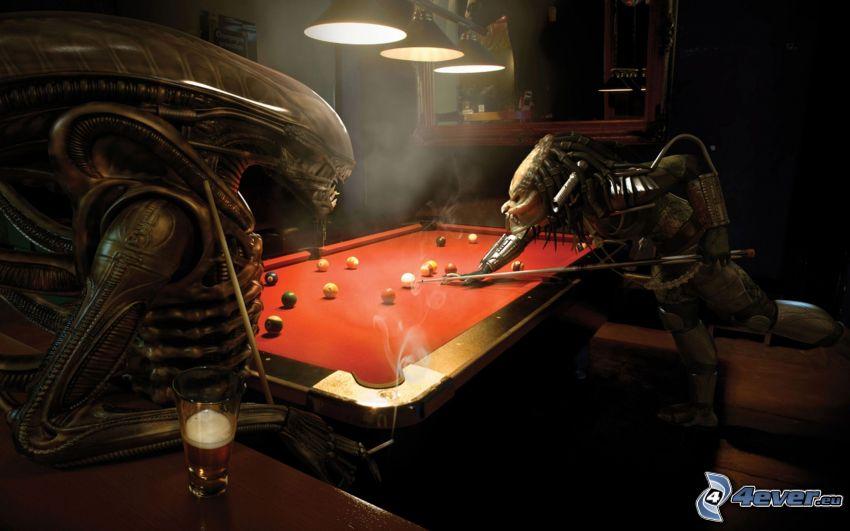 Alien vs. Predator, biliard, paródia