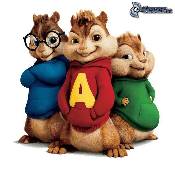 Alvin a Chipmunkovia, chipmunks