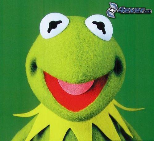 Kermit the Frog, žaba, úsmev
