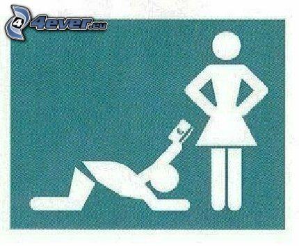 muž a žena, prosba, kreditka