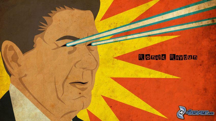 Ronald Raygun, laserové lúče