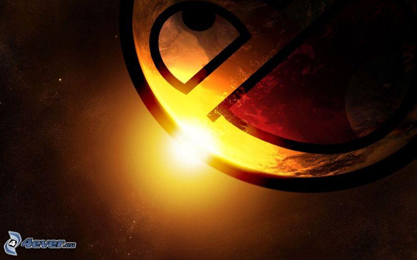 smajlík, vesmír, východ slnka