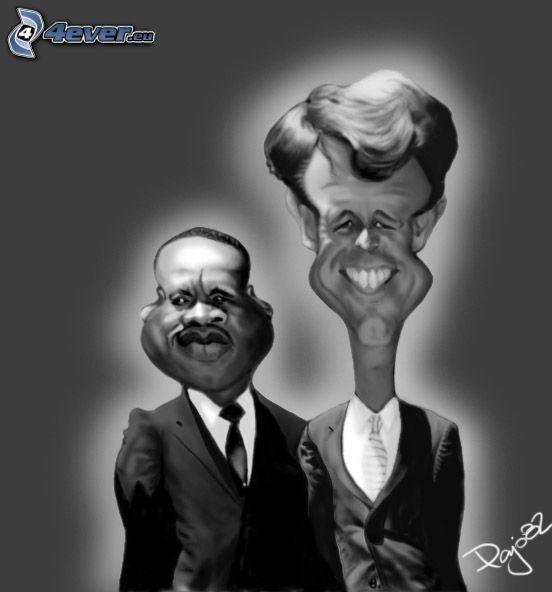 Bobby Kennedy, karikatúra