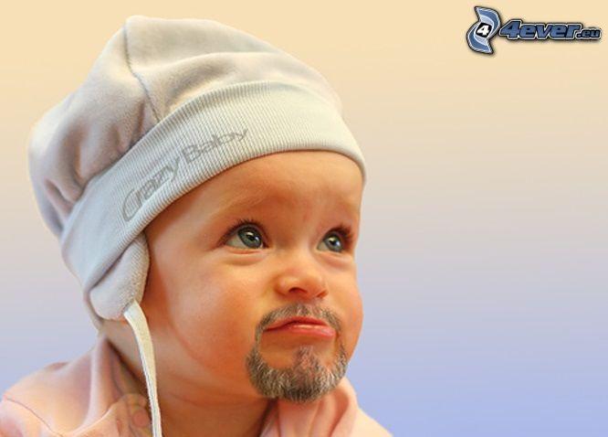 brada, čiapka, bábo