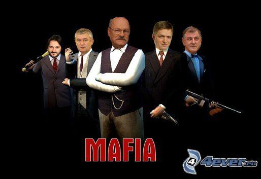 Mafia, paródia, politici