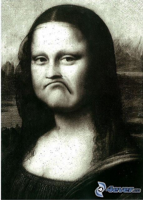 Mona Lisa, paródia, smútok