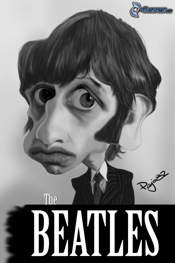 Ringo Starr, karikatúra, The Beatles