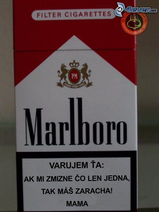 Marlboro, varovanie