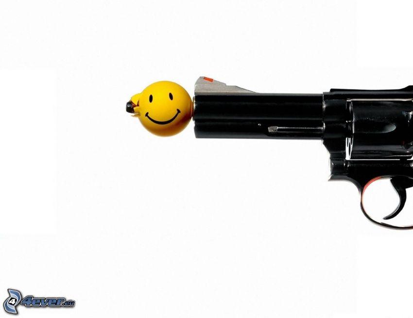 pištoľ, smajlík