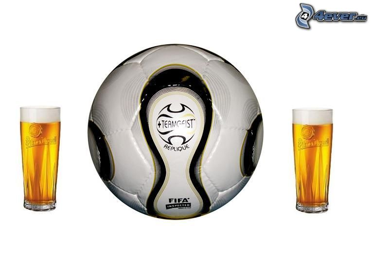 pivo, futbal