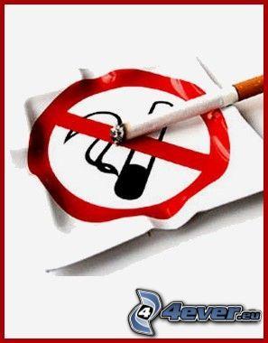 popolník, cigareta, fajčenie, zákaz