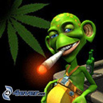 škriatok, joint, ganja, marihuana