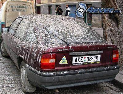 auto, špina