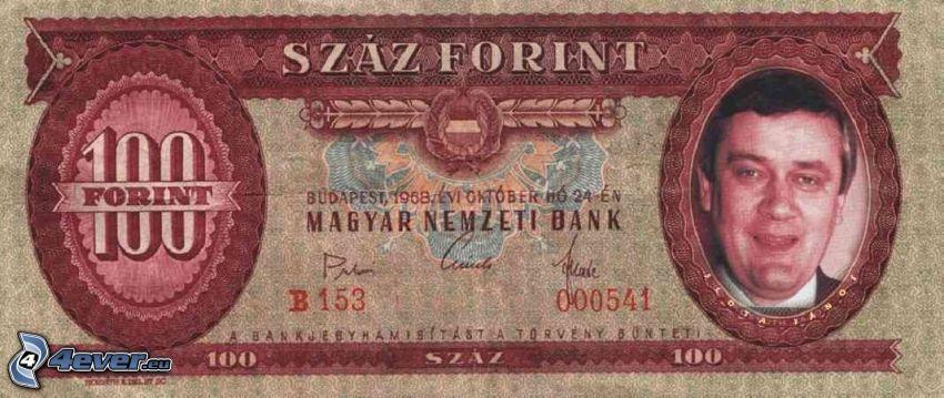 bankovka, Ján Slota, forint