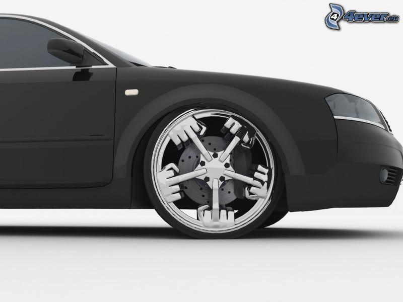 disk, gesto, Audi A6