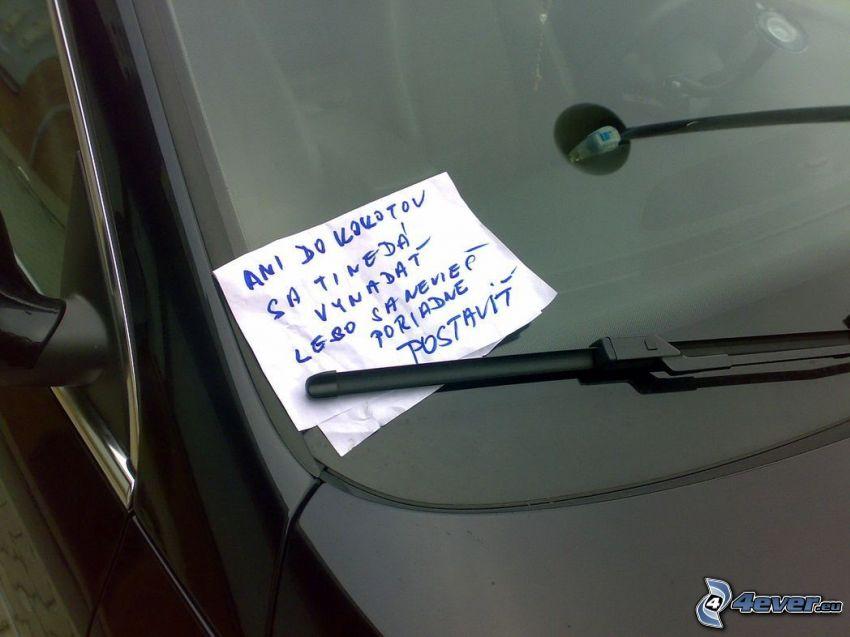 papierik, stierač, auto