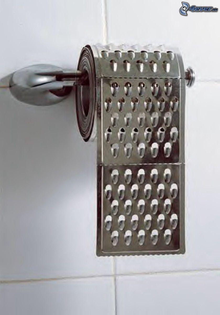 toaletný papier, strúhadlo