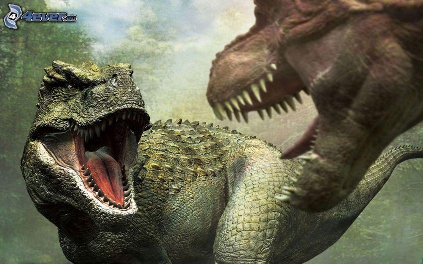 Tyranosaurus, dinosaury