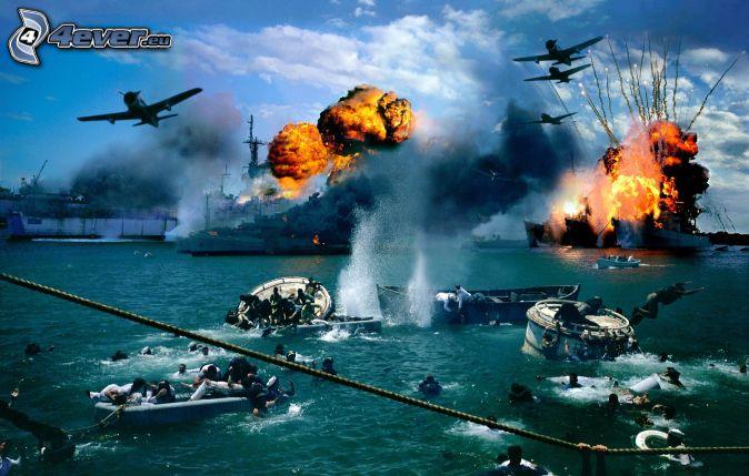 Pearl Harbor, explosion