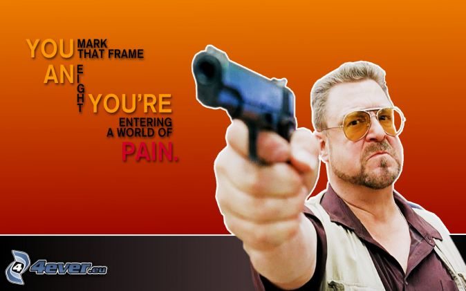 Killer Man With Gun Man With a Gun Text