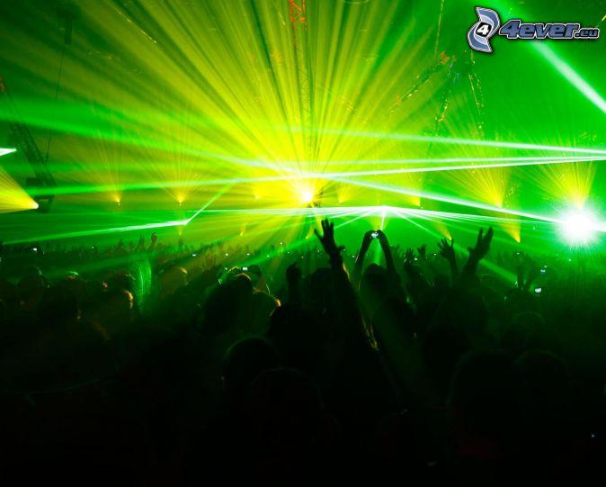 concert, crowd, fans, hands, lights