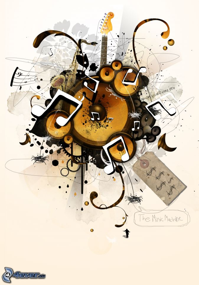 Musical Instrument Collage