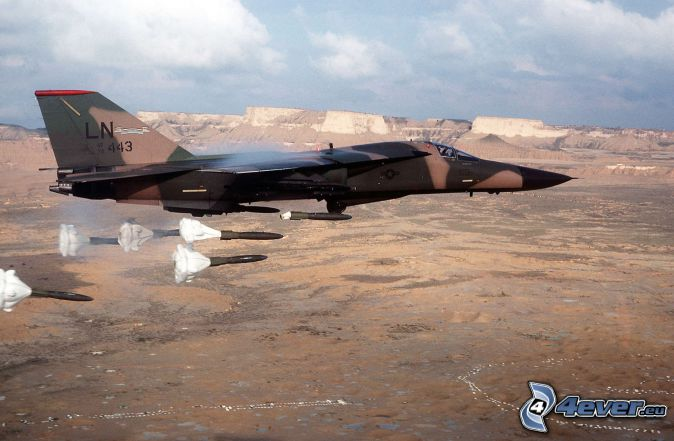 F-111 Aardvark, view of the landscape