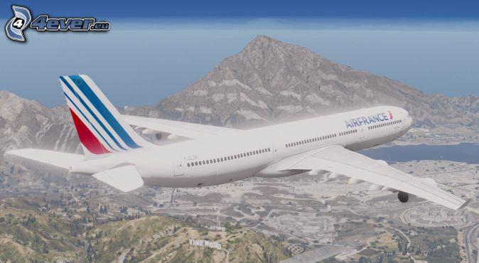 Airbus A340, mountain