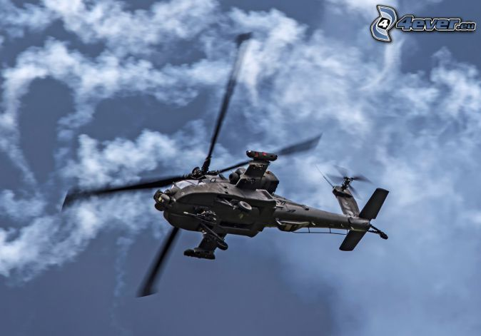 AH-64 Apache, clouds