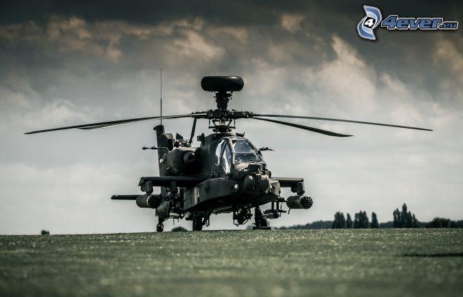 AH-64 Apache, dark clouds