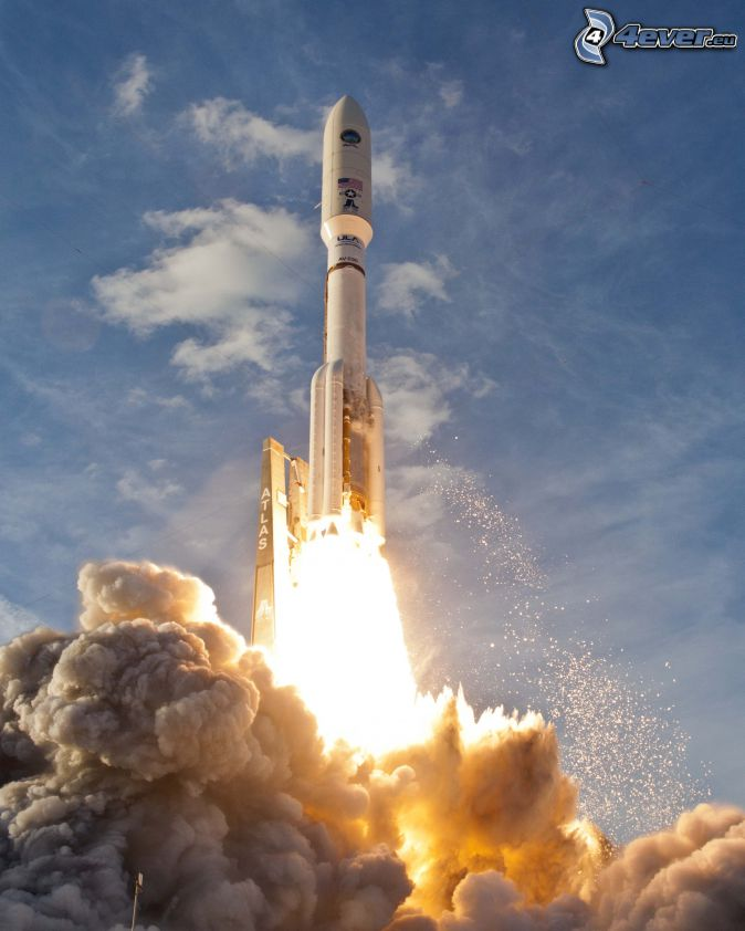 Atlas V, launch of rocket