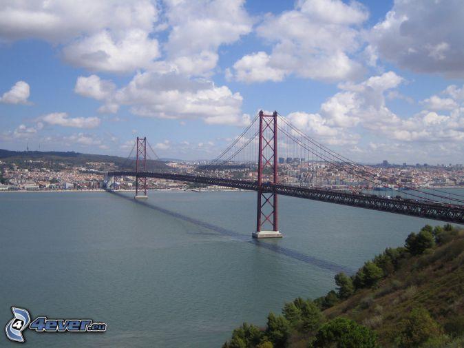 25 de Abril Bridge, Lisbon, clouds