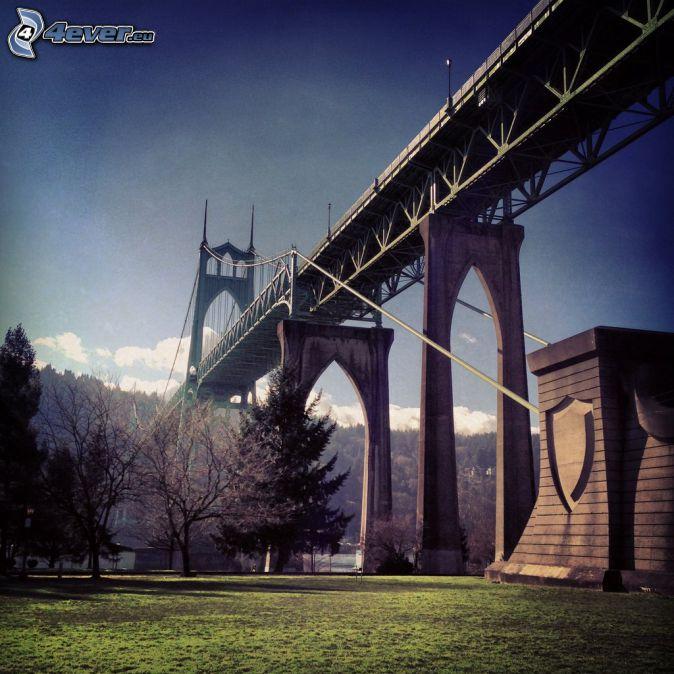 St. Johns Bridge, under the bridge, park